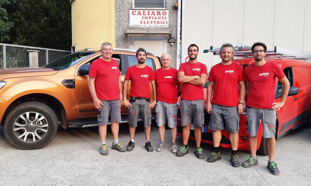 2021-09-Caliaro-Impianti -Elettrici-Civili-Industriali-Team